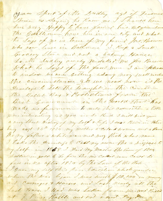 Page 3: 1865 October 3 & November 8, Letter to William Fredrick Poole from Richard Kennard. Boston Athenaeum Archive