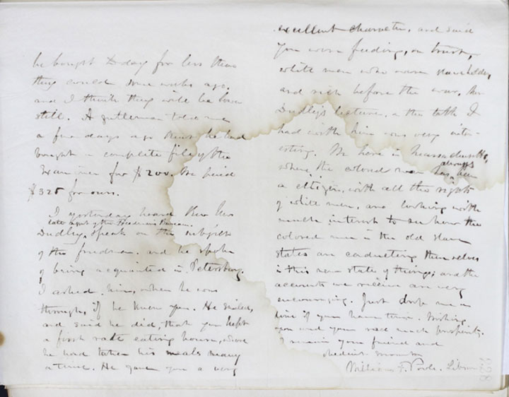 Pge 2, left & page 3, right: Copy of, 1865 October 30, Letter to Richard Kennard from William Fredrick Poole. Boston Athenaeum Archive