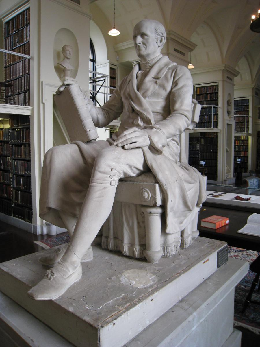 Robert Ball Hughes (1806-1868) Nathaniel Bowditch, ca. 1839 Plaster. Collection of the Boston Athenæum; deposited by William Thaddeus Harris, 1851.
