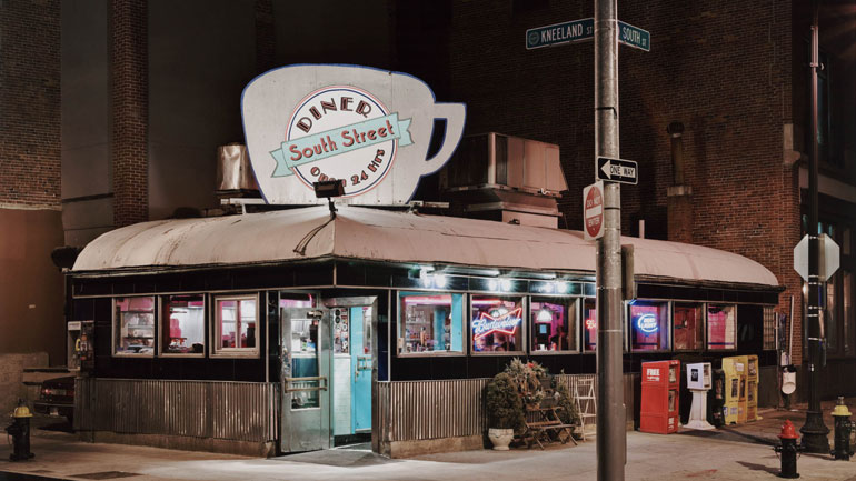 John D. Woolf, South Street Diner, Boston, MA., 2009. Color inkjet print. Purchase, Charles A. Cummings Fund, 2009