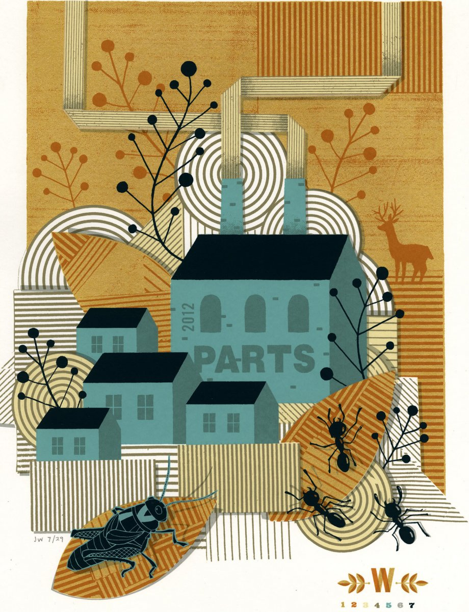 James Weinberg, Parts, 2012. Silkscreen with metallic inks. Purchase, Frances Hovey Howe Print Fund, 2016