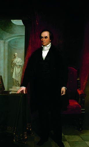 Chester Harding (1792–1866), Daniel Webster, 1830, 1848–1849. Oil on canvas. Boston Athenæum, Gift of several subscribers, 1832.