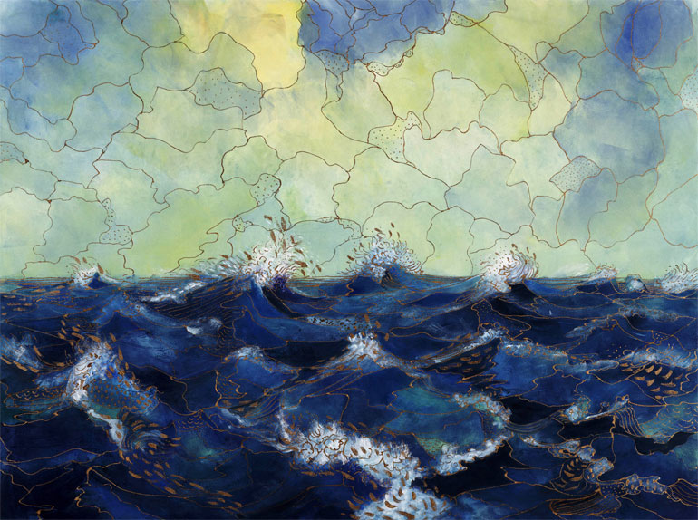 Elizabeth A. Goddard, Playful Sea II, 2006. Monotype. Purchase, Frances Hovey Howe Print Fund, 2012