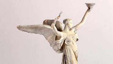 Daniel Chester French, The Spirit of Life, Maquette (Trask Memorial)1929, plaster. Chesterwood, a National Trust Site, Stockbridge, Massachusetts, Gift of Daniel Chester French Foundation. Photograph by Paul Rocheleau, courtesy Chesterwood.