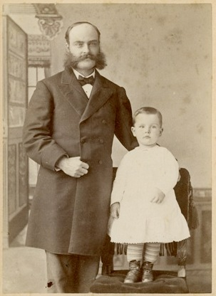 Lloyd Fairsoap with son, Lloyd Jr. Unidentified portrait, Prints and Photographs of the Boston Athenaeum.