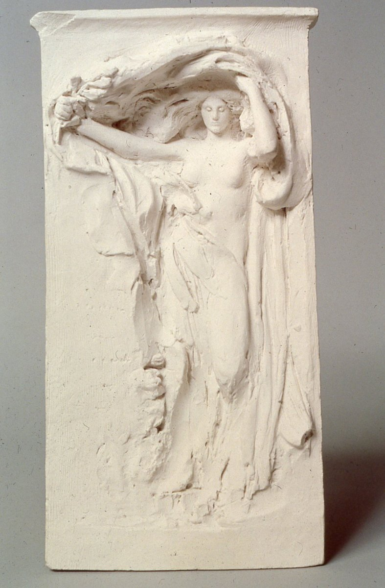 Daniel Chester French (1850-1931), Mourning Victory, Maquette, ca. 1906, plaster. Chesterwood, National Trust for Historic Preservation, Stockbridge, Massachusetts, Gift of the Daniel Chester French Foundation. Photograph © Chesterwood.
