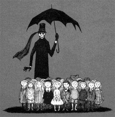 Edward Gorey, The Gashlycrumb tinies, or, After the outing. New York : Harcourt Brace, [1991], c1963.