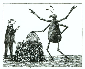 Edward Gorey, 'I am the Bahum Bug,' it declared. © 2011 The Edward Gorey Charitable Trust.