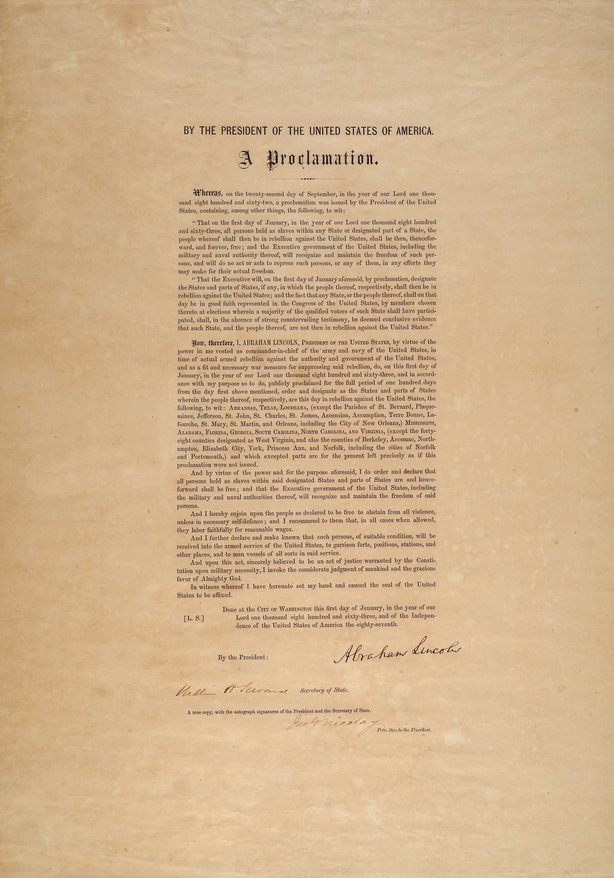 the emancipation proclamation The best f#@king news team looks back at a major flaw of the emancipation  proclamation.