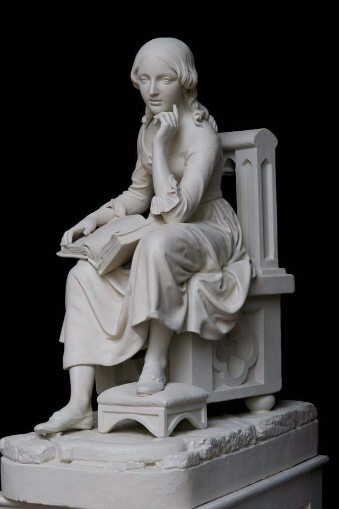 Little Nell, by Robert Ball Hughes, ca. 1851. Paster, 125.3 x 60.2 x 97.8 cm.
