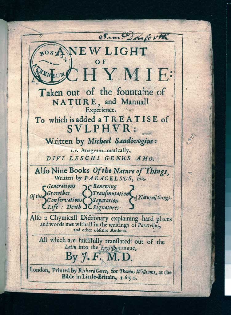 A New Light of Alchymie,  by Michał Sędziwój, 1650.