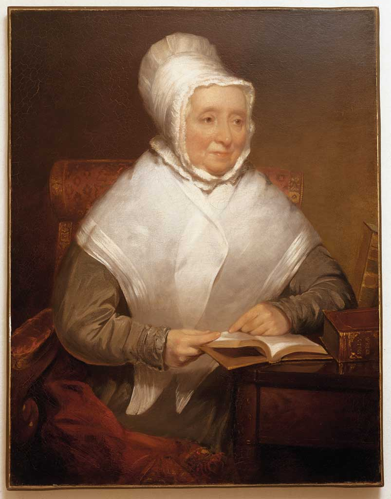Hannah Adams, by Chester Harding, 1827, Oil on canvas, 92 x 70.8 cm.
