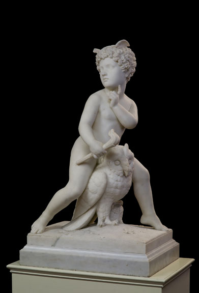 Will o' the Wisp, by Harriet Hosmer,ca. 1856, Marble, 30 ½ x 19 ½ by 13 ½ cm.