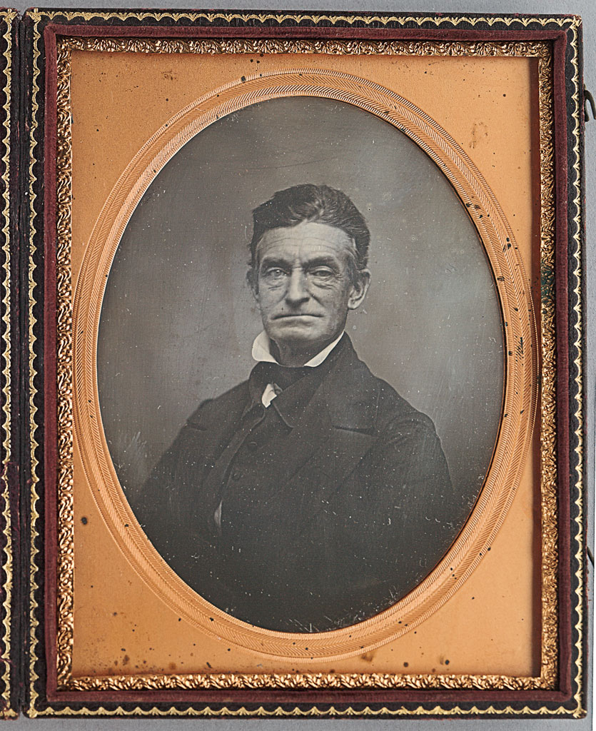 John Brown of Osawatomie, 1857 Half-plate daguerreotype, 6 x 4 ¾ in (cased).