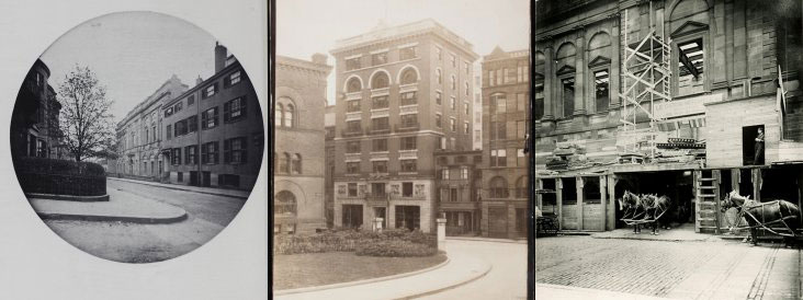 Historical renovation photos of the Boston Athenaeum
