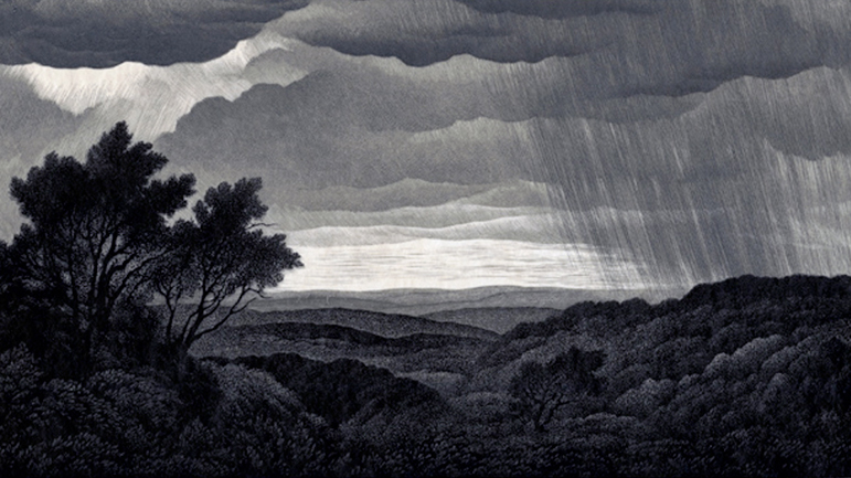 Nason, Thomas W. (Thomas Willoughby), 1889-1971, artist Summer Storm, 1940 Wood Engraving Purchase: State Street Bank Print Fund and Elizabeth C. Choate Print Fund; 2015