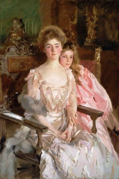John Singer Sargent (1856–1925), Mrs. Fiske Warren (Gretchen Osgood) and Her Daughter Rachel, 1903. Oil on canvas. Wikimedia Commons.