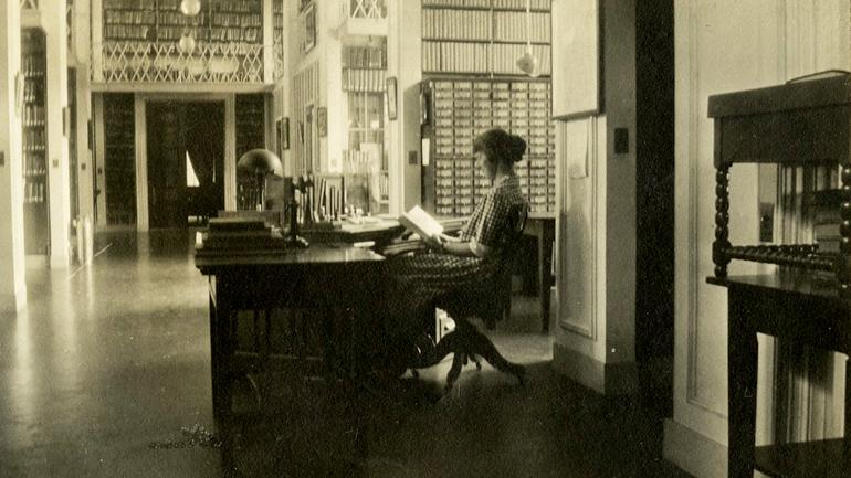 Staff at desk