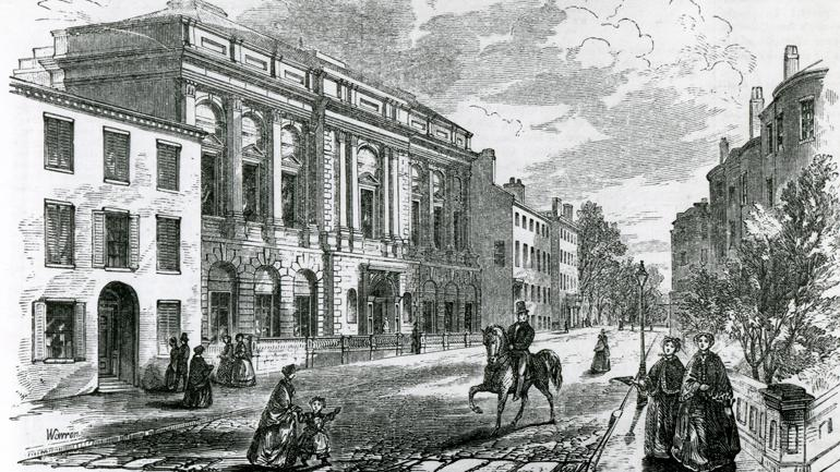 Boston Athenæum Front 1855