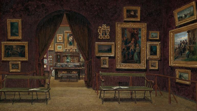 Picture Gallery of the Boston Athenaeum, by Meneghelli