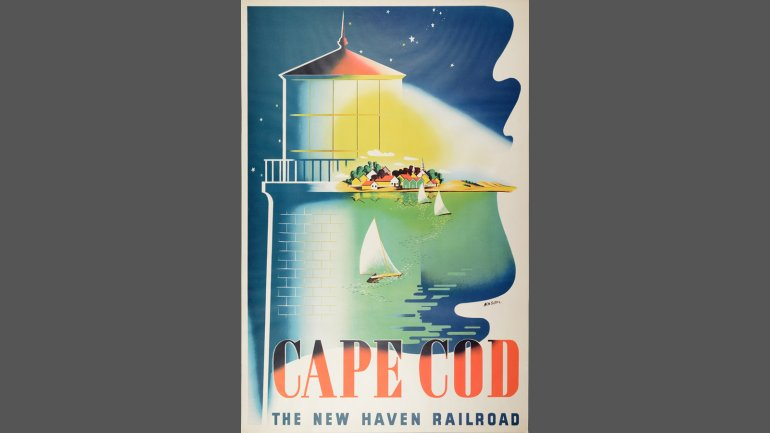 Ben Nason (b. 1915), Cape Cod. The New Haven Railroad., ca. 1945. Photomechanical print. Purchase, Charles A. Cummings Fund, 2014.