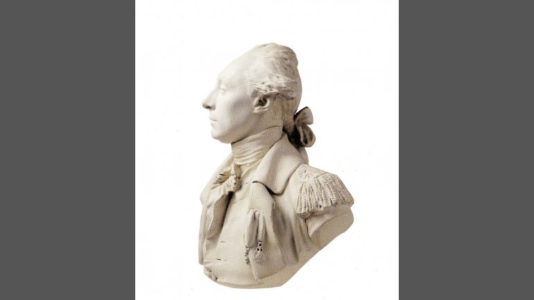 Jean-Antoine Houdon (1741–1828) Marquis de Lafayette, before 1789 Plaster, 29 3/8 x 20 1/8 x 19¾ inches Boston Athenæum, Purchase, 1828