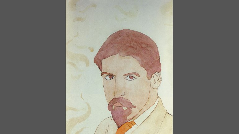 Thomas Buford Meteyard (1865-1928), Self-Portrait, ca. 1894, Watercolor. Private collection, Cambridge, Massachusetts.