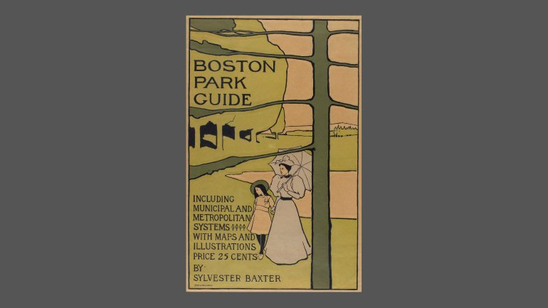 Poster for Boston Park Guide, 1895
