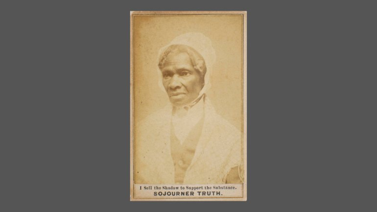 Carte de visite portrait of Sojourner Truth, about 1882