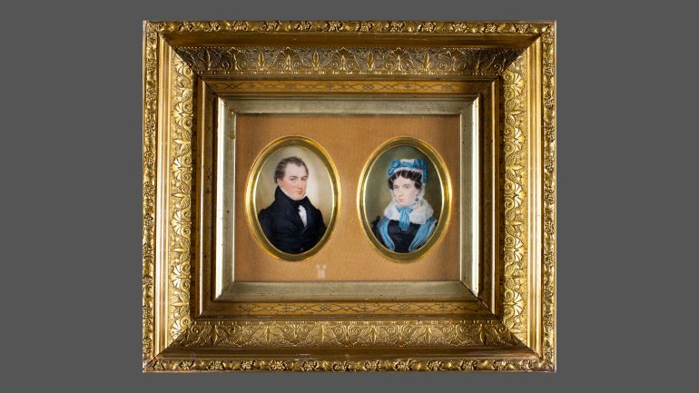 Portraits of James Trask Woodbury & Augusta Porter Woodbury, 1828