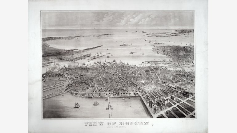 View of Boston, July 4th, 1870