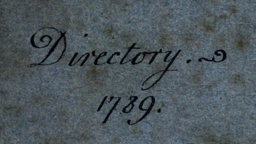Boston Directory, 1789 – 1900 Collection