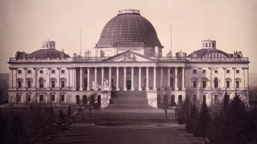 Daguerreotype of east side of the Capitol in 1846 by John Plumbe