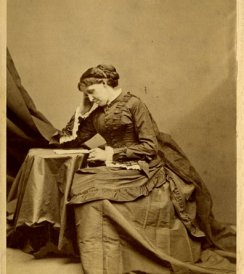 George Kendall Warren (d. 1884), [Louisa May Alcott], ca. 1880. Cabinet photograph. Boston Athenaeum. Gift of Mr. and Mrs. Arthur H. Brooks, 1996.