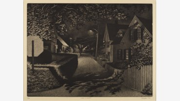 William Behnken (b. 1943), Under Lamplight, 1992. Aquatint. Purchase, Katharine Lane Weems Print Fund, 2009