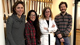 Conservators in the BA lab
