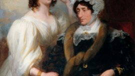 Fanny Kemble and Her Aunt, Mrs. Siddons, ca. 1830-31. By Henry Perronet Briggs.