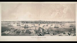Charles W. Burton. View of View of Boston in 1848. From East Boston, 1848.