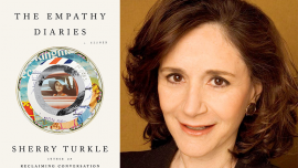 The Empathy Diaries book cover & author, Sherry Turkle