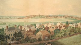 Boston, 1828, John Rubens Smith, Watercolor with pen and ink
