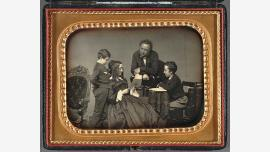 Henry Winthrop Sargent and His Family, by John Adams Whipple, ca. 1850-1853.