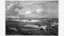 View of the Town of Gloucester, Mass., 1835-1836, by Fitz Henry Lane. Lithograph