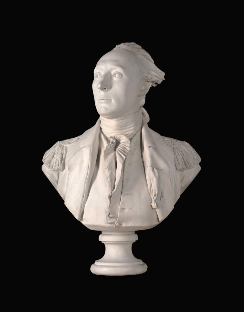 Busts of franklin and lafayette by jean antoine houdon