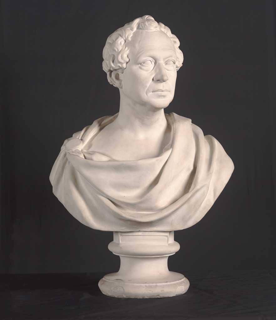 Edward Everett, 1839.  Plaster, 76.1 x 51.6 x 32.1 cm Deposited by the artist, 1840.