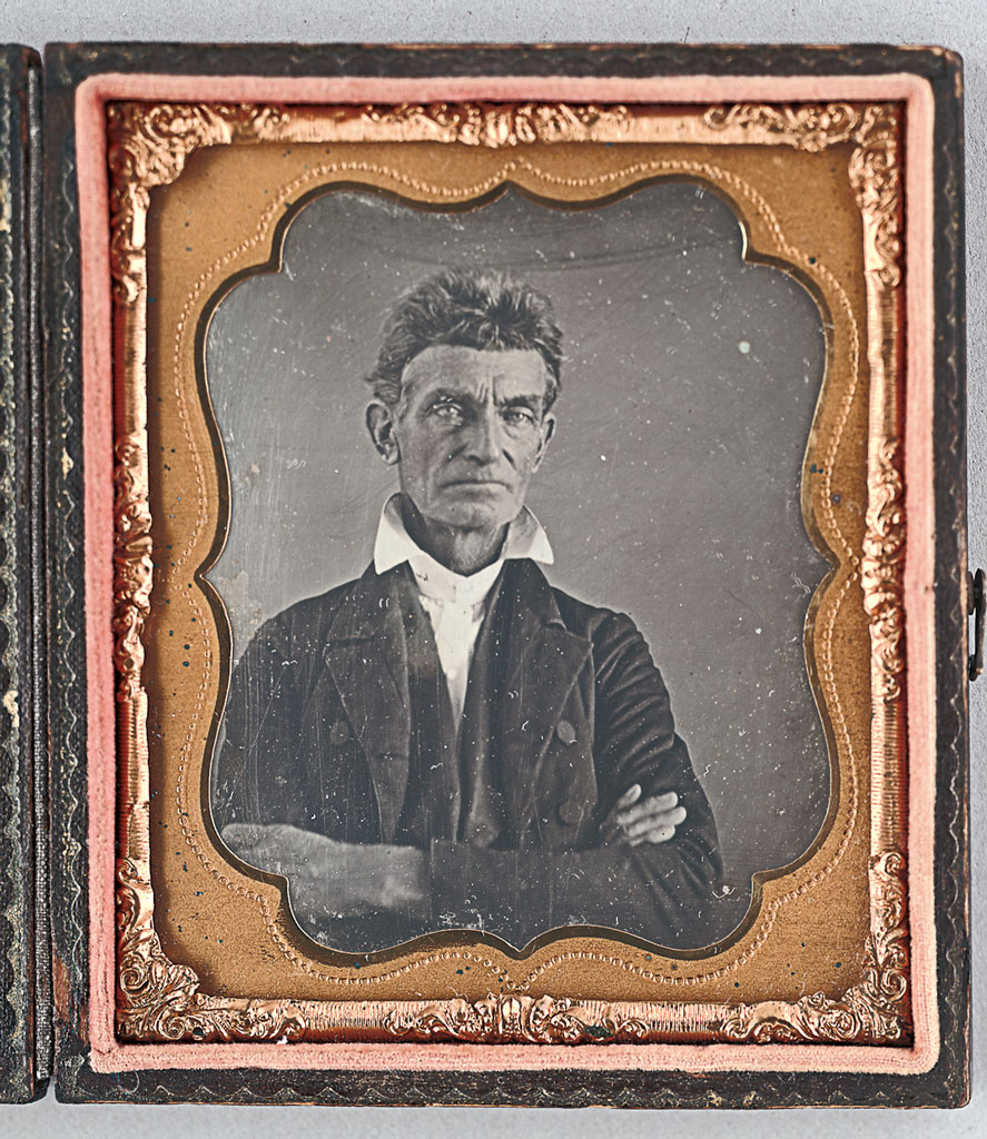 John Brown, 1856. Sixth-plate daguerreotype, 3 5/8 x 3 1/8 in (cased). Anonymous.  Gift of Sally Fairchild, 1942.